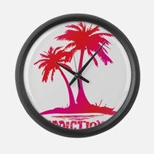 PALMS - RUM PUNCH Large Wall Clock