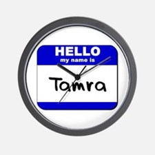 hello my name is tamra  Wall Clock