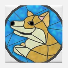 Stained Glass Scamp Tile Coaster