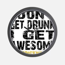 GET AWESOME - WHITE Wall Clock