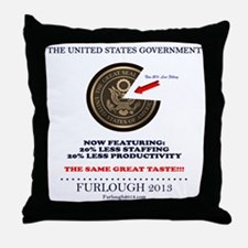 20% Less Throw Pillow
