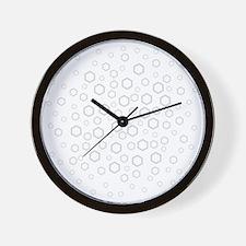 Hexagons in Gray. Wall Clock