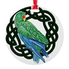 Celtic Eclectus Parrot Ornament
