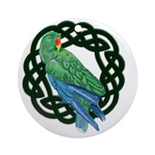 Celtic Eclectus Parrot Round Ornament