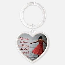 Always Believe Heart Keychain