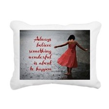 Always Believe Rectangular Canvas Pillow
