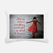Always Believe Rectangular Canvas Pillow