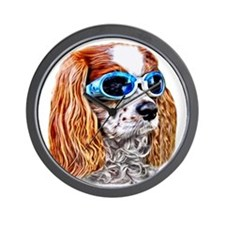 Dexter In Doggles Wall Clock