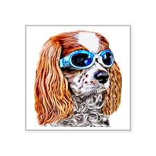"""Dexter In Doggles Square Sticker 3"""" x 3"""""""
