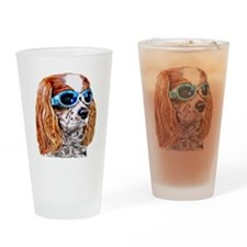 Dexter In Doggles Drinking Glass