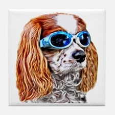 Dexter In Doggles Tile Coaster