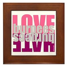 Love Hate Burpees Framed Tile