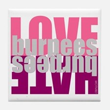Love Hate Burpees Tile Coaster