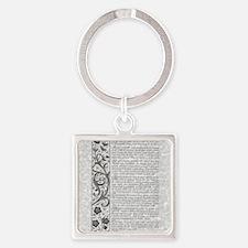 The Desiderata Poem by Max Ehrmann Square Keychain