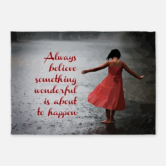 Always Believe 5'x7'Area Rug
