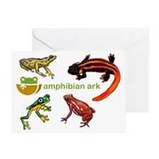 AAk logo with amphibians Greeting Card