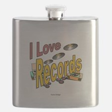 I Love Records Flask