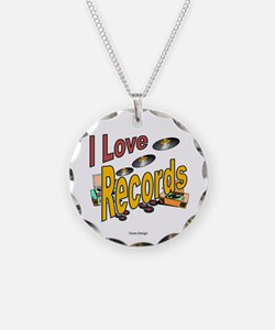 I Love Records Necklace