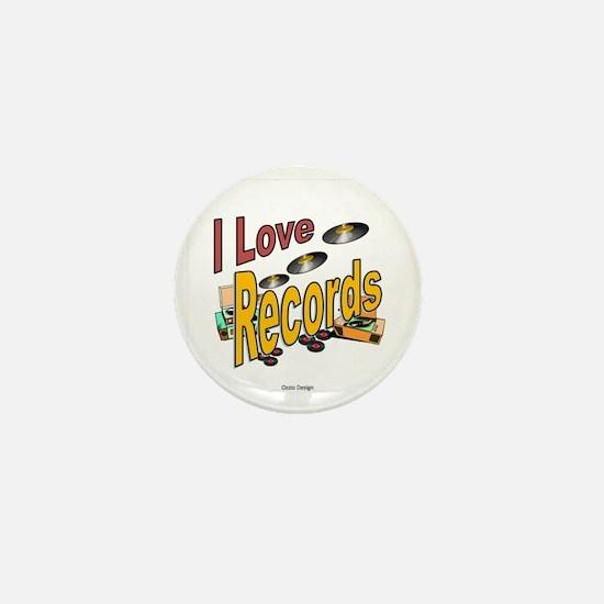 I Love Records Mini Button