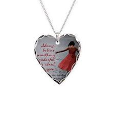 Always Believe Necklace Heart Charm