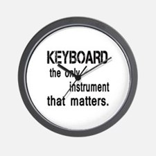 Keyboard the only instruments that mat Wall Clock