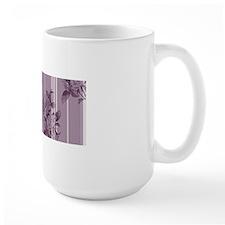 Purple Stripes and Roses Mug