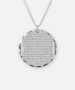 The Desiderata Poem by Max E Necklace Circle Charm