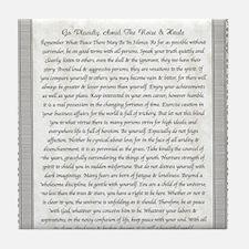 The Desiderata Poem by Max Ehrmann Tile Coaster