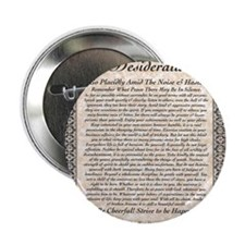 "desiderata de lis rose stone 2.25"" Button"