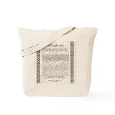 desiderata de lis rose stone Tote Bag