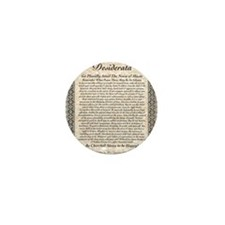 desiderata de lis rose stone Mini Button