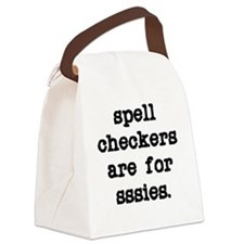 Spell Checkers Canvas Lunch Bag