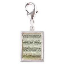 The Desiderata Poem by Max E Silver Portrait Charm