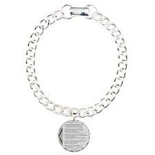 gray stone celtic parchm Bracelet