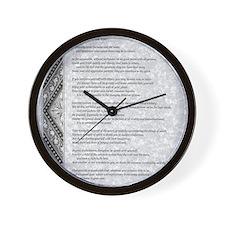 gray stone celtic parchment desiderata Wall Clock