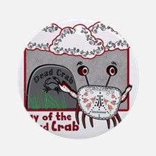 Day of the Dead Crab Round Ornament
