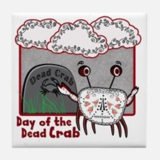 Day of the Dead Crab Tile Coaster