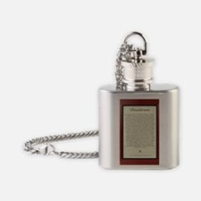 The Desiderata Poem by Max Ehrmann Flask Necklace