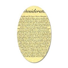 The Desiderata Poem by Max E 35x21 Oval Wall Decal