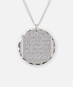 The Desiderata Poem by Max E Necklace