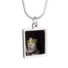 Angela Davis Silver Square Necklace