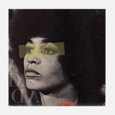 Angela Davis Tile Coaster