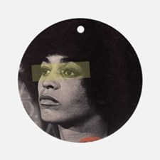 Angela Davis Round Ornament