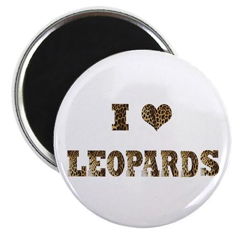 """i love leopards 2.25"""" Magnet (100 pack)"""