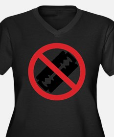 Don't Shave! Women's Plus Size Dark V-Neck T-Shirt