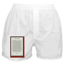 The Desiderata Poem by Max Ehrmann Boxer Shorts