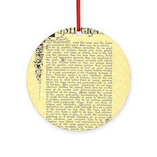 maize stone florentine parchment de Round Ornament
