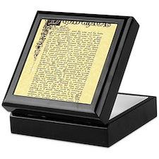 maize stone florentine parchment desi Keepsake Box