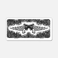 Pistols and Wings Aluminum License Plate