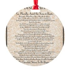 The Desiderata Poem by Max Ehrmann Ornament